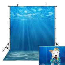 Подводный мир фотография Фон Солнечный свет глубокая синяя вода
