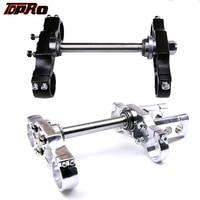 TDPRO 22mm Handlebar Triple Clamp Risers Holder Fit Honda 45/48mm Upside Ddown Front Forks 125cc 140cc 150cc 160cc Dirt Pit Bike