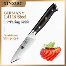 XINZUO-cuchillo de pelar de 3,5 pulgadas, acero inoxidable, alto en carbono, Alemania, 1,4116, cuchilla afilada, mango de ébano, funda de regalo