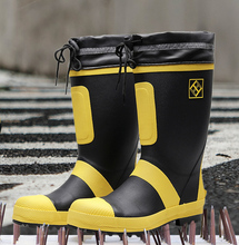 2019 Man Rain Boots Size 50 Shoes Height Increased Wedges High Top Rubber Mixed Color Work Shoe