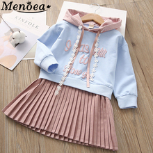 Beenira Children Dress 2017 Autumn European and American Style Girls Pattern Pocket Long-Sleeve Dress For 2-7Y Baby Kids Dresses girls dresses 2018 new european and american style spring pattern solid long sleeves blue girl dresses for 4 16 year ds580