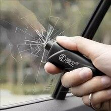 Martello portatile di sicurezza dellinterruttore della finestra di automobile vetro automatico salvavita fuga strumento di salvataggio taglierina sicura della cintura di sicurezza martello portachiavi