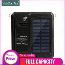 (100% Capacity) Waterproof Solar Power Bank 10000mAh Dual USB External Polymer Battery Charger Outdoor lamp Light Powerbank