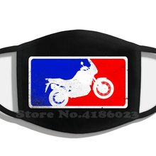 Motocicleta crf1000 áfrica twin major league crf1000 enduro dupla esporte touring meio rosto para homens senhoras diy máscaras de boca
