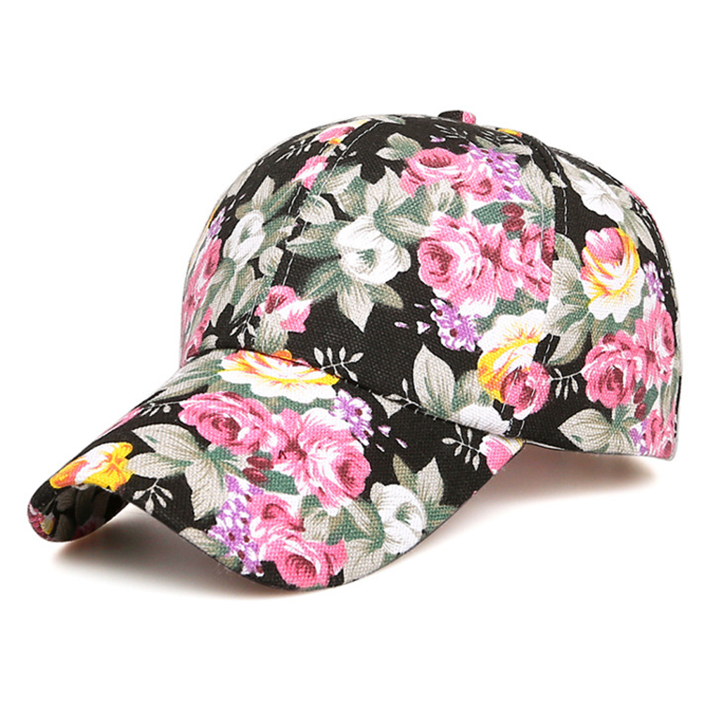 Casual Golf Hats Snapback Hat Fashion Rose Floral Print Women's Baseball Cap Men Sport Mesh Caps Snapback Breathable