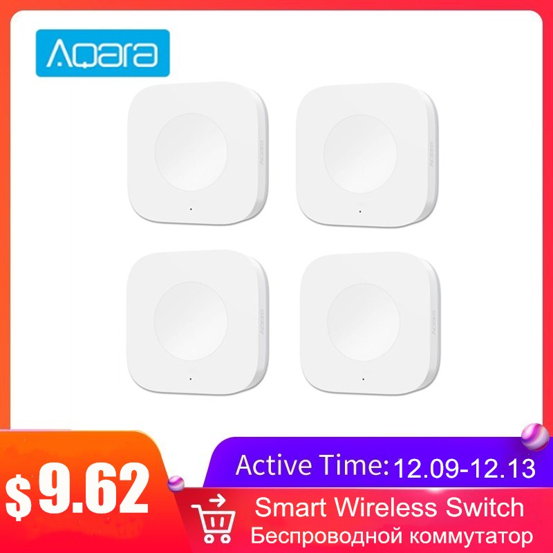 Aqara Smart Wireless Switch Intelligent Home Application Light Switch ZigBee Wifi Connection One Key To Control For Doorbell