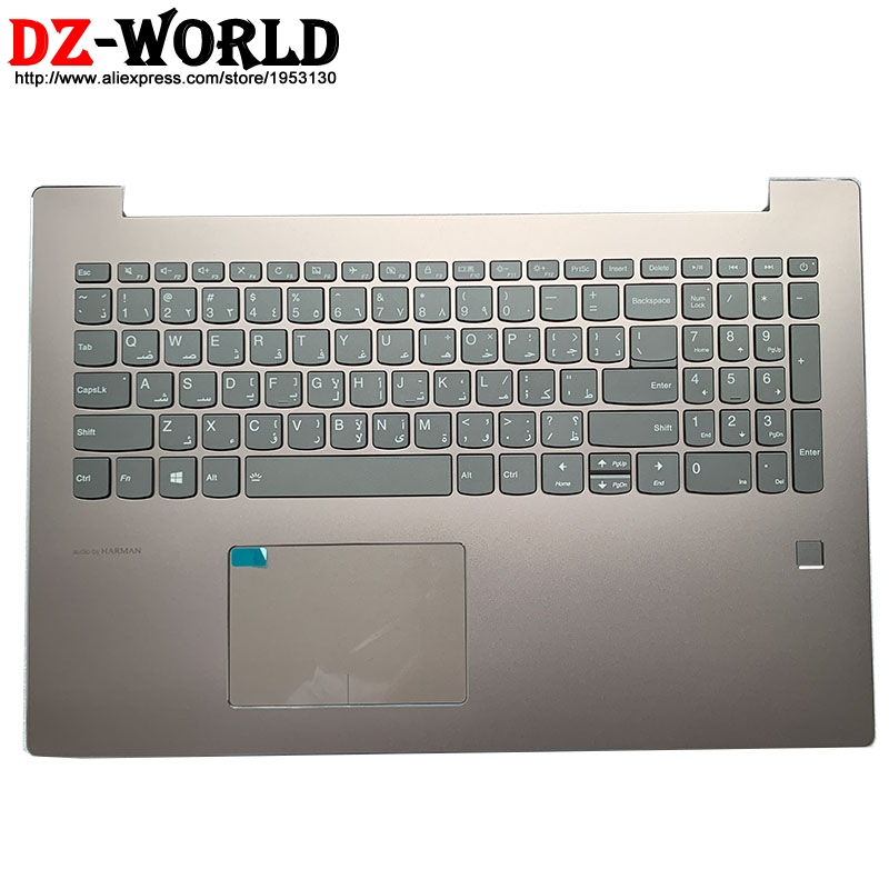 New Shell C Cover Palmrest Upper <font><b>Case</b></font> With Arabic Backlit Keyboard Touchpad FPR for <font><b>Lenovo</b></font> Ideapad <font><b>520</b></font>-15IKB Laptop 5CB0N98646 image
