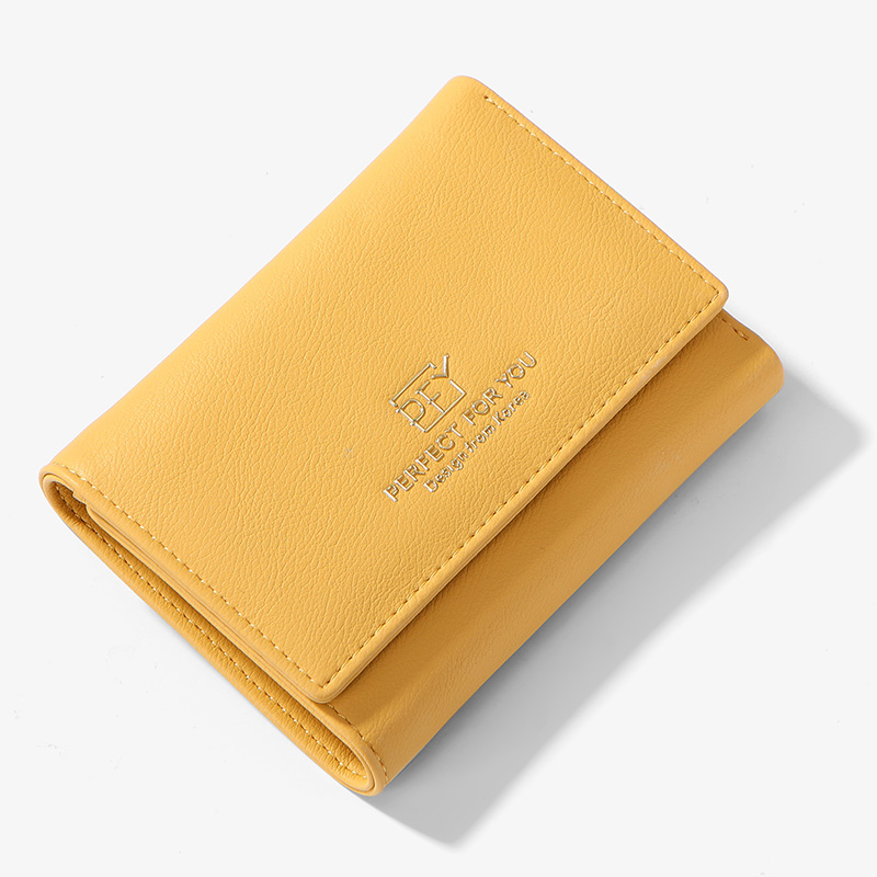 WEICHEN Mini Wallet Coin-Purse Tri-Fold Card-Holder Short Zipper Female Design New-Brand