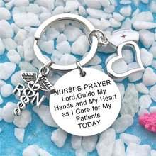 Медицинская цепочка для ключей с логотипом медсестер Женская