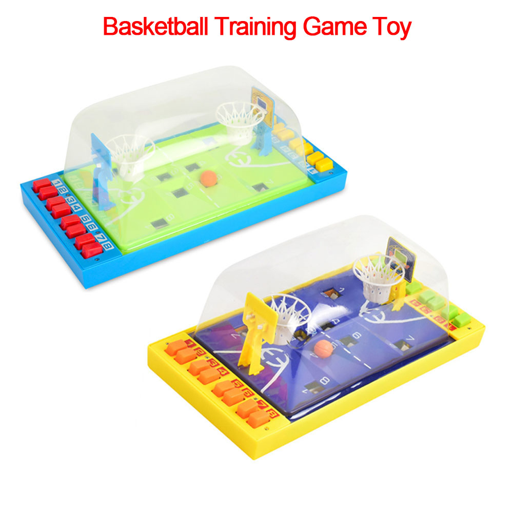 Mini Basketball Table Games Portable Desktop Catapult Double Match Button Ejection Court Parent-child Interactive Finger Toys
