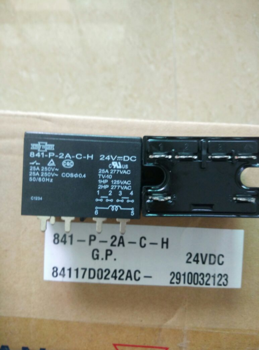 3 stücke Neue SongChuan 841-P-2A-C-H 841P2ACH 24VDC Relais Kostenloser Versand
