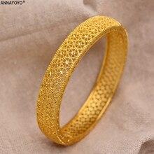 24k золотые браслеты Дубая для женщин золото Дубай невесты Свадебный Эфиопский браслет Африка Арабский Браслет ювелирные изделия Золотой шарм детский браслет