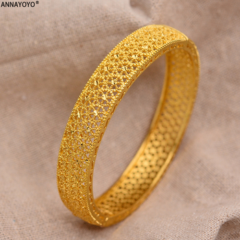24k Dubai Gold Bangles for Women Gold Dubai Bride Wedding Ethiopian Bracelet Africa Bangle Arab Jewelry Gold Charm kids Bracelet jhplated one piece womens wedding bridal bangle bracelet dubai bangle jewelry africa arab gold color