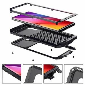 Image 2 - Funda de Metal a prueba de golpes para Samsung Galaxy S7 Edge S8 S9 S10 Plus S10e Note 10 9 8, funda protectora completa + película