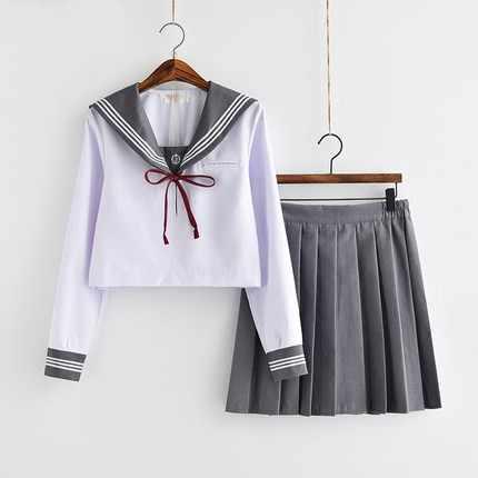 Branco vestidos de escola senhora jk uniformes marinheiro terno anime japonês uniforme escolar para meninas estudantes do ensino médio saia plissada