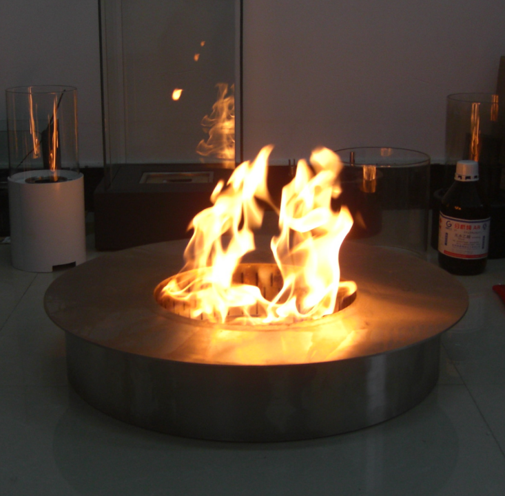 Hot Sale Outdoor Stainless Steel Manual Bio Ethanol Fireplace Round