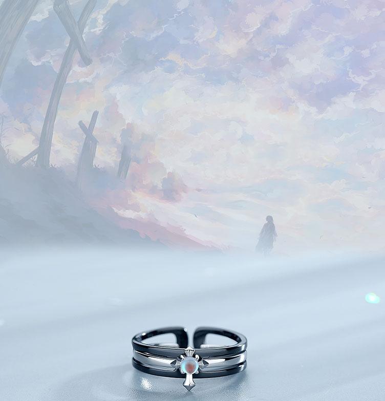 Leouerry 925 пробы серебряные парные кольца для влюбленных и