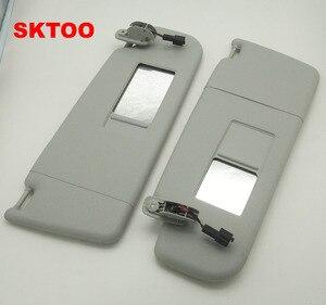 Солнцезащитный козырек SKTOO с зеркалом для макияжа, солнцезащитный козырек для Volkswagen bora Golf 4 Passat B5, солнцезащитный козырек с зеркалом для маки...