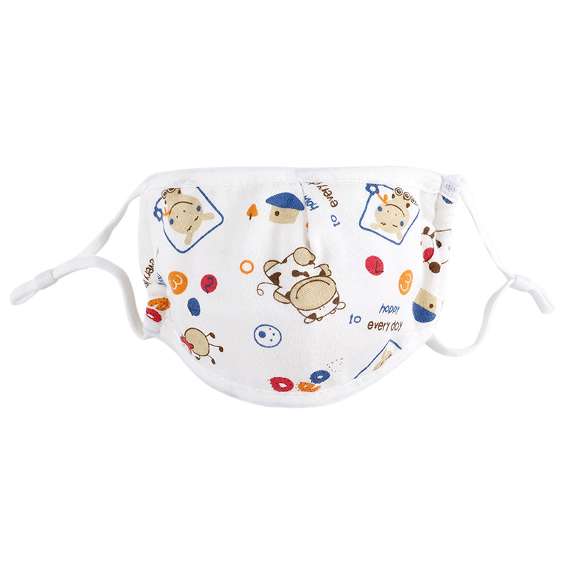 0-5 Years Baby Mask Five-layer Adjustable Cartoon Printed Child Baby Comfortable Cotton Gauze Mask 1