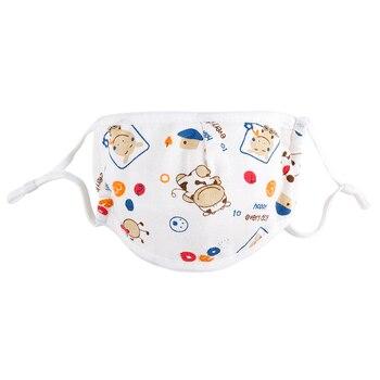 0-5 Years Baby Mask Five-layer Adjustable Cartoon Printed Child Baby Comfortable Cotton Gauze Mask 1