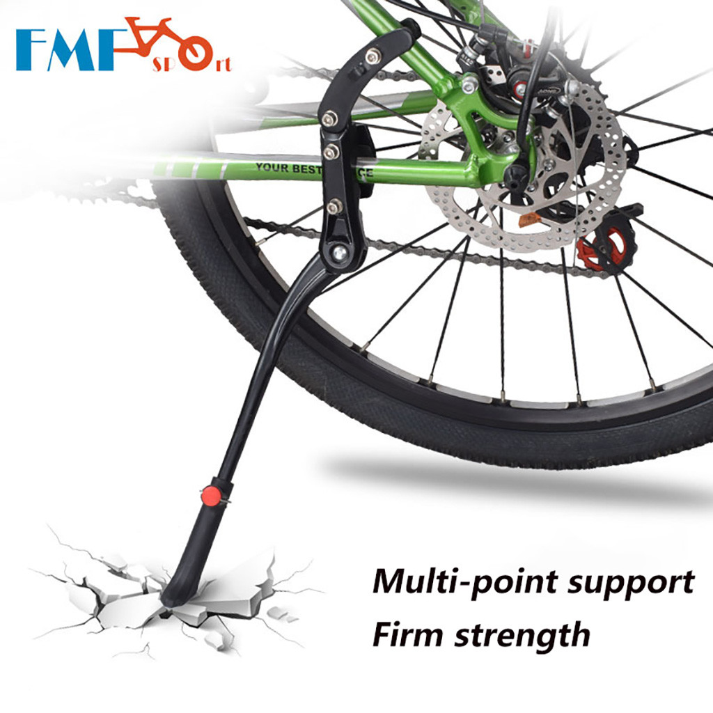 Bike Support Side Kick Stand Adjustable Bicycle Bike Stand Aluminum Foot Prop Side Kickstand Parking Rack Mountain Road Cycling