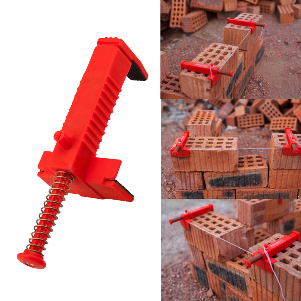 2pc Brick Liner Wall Builder Building Wire Frame Brick Liner Runner Wire Drawer Bricklaying Tool Fixer Building Construction 3