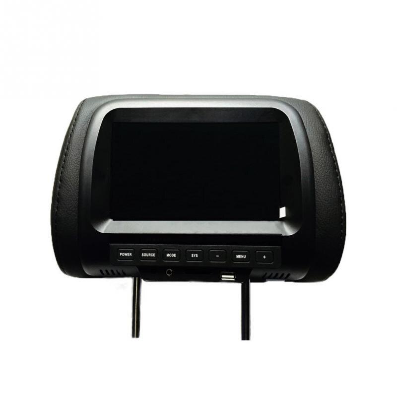 7 cal ekran TFT LED monitory samochodowe MP5 odtwarzacz zagłówek monitora wsparcie AV USB wejście SD głośnik fm kamera samochodowa wyświetlacz DVD wideo
