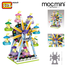 LOZ Mini building Blocks amusement park mini architecture sets bricks model Assembly building Educational DIY kits kids toys Friends Amusement Park Ferris Wheel Carousel Pirate Ship Building Blocks DIY Bricks Toys 151pcs electric tank engine thomas and friends trains new sets model building blocks bricks railway toy boys kids assembly toys