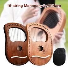 Лира арфа 16 металлических струн из красного дерева, щелевая арфа для любителей инструментов, начинающих, высокое качество, легко учится, идеально подходит для детей/ФФИ/