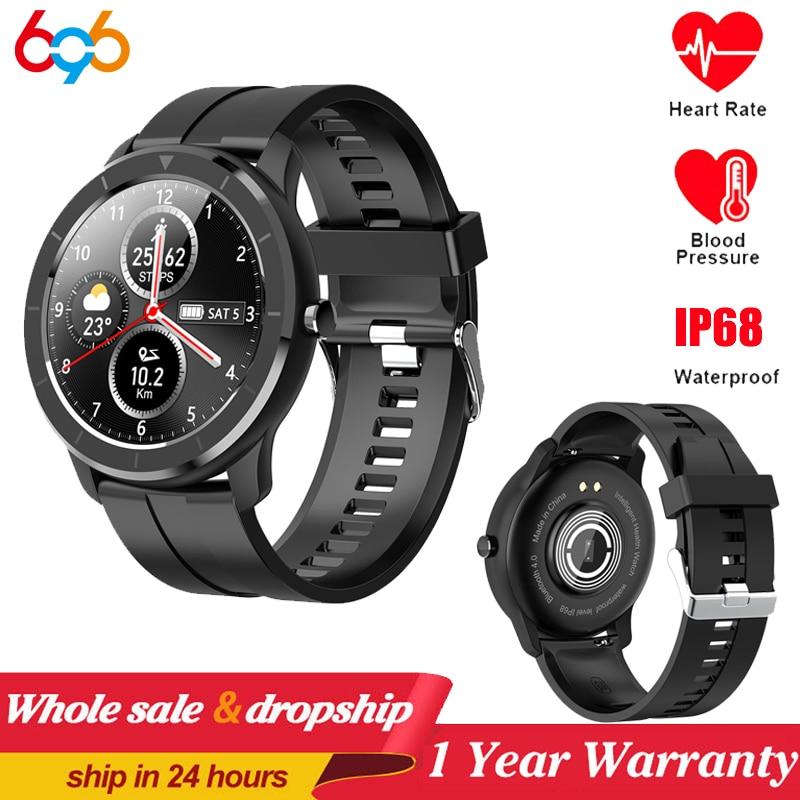 T6 montre intelligente hommes Fitness Tracker femmes appareils portables IP68 Smartwatch fréquence cardiaque montre-bracelet hommes montre intelligente PK DT78 L13 L7