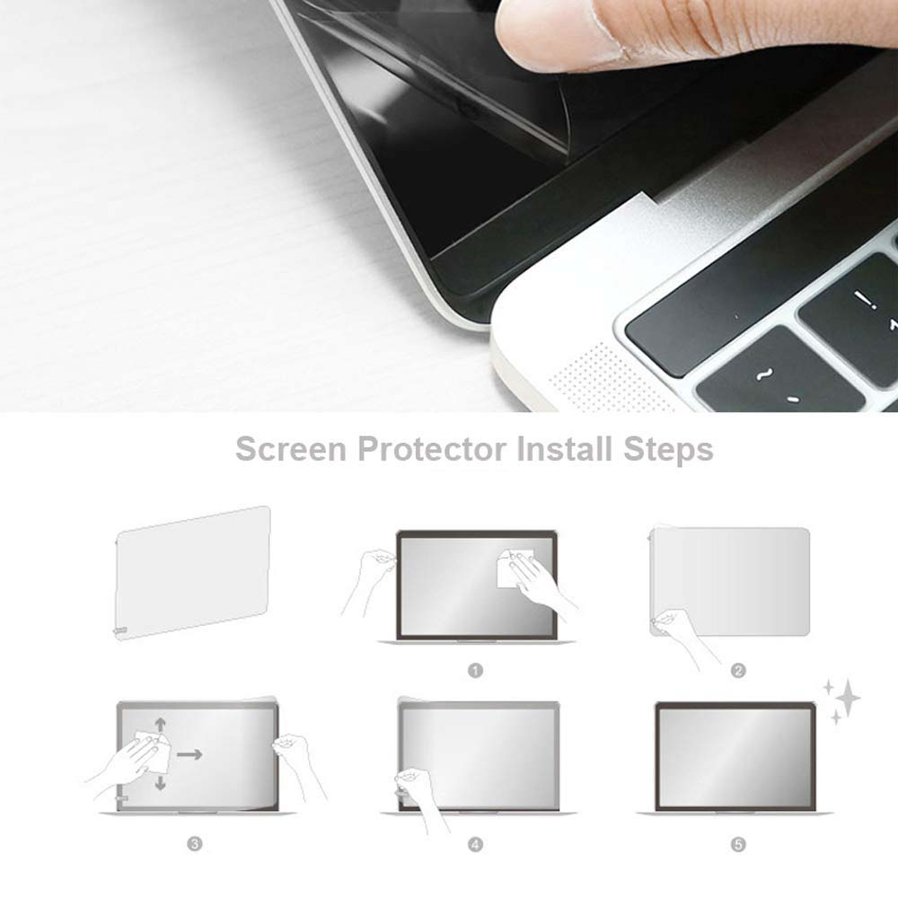 KK&LL For Apple Macbook Pro 13 A1278 (with CD-ROM) Crystal Clear Lcd Guard Film Screen Film Protector