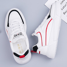 SWYIVY Student Shoes Girl White Sneakers Chunky Platform 2020 Spring New Female Casual Shoes Sneakers White Sneaker For Woman