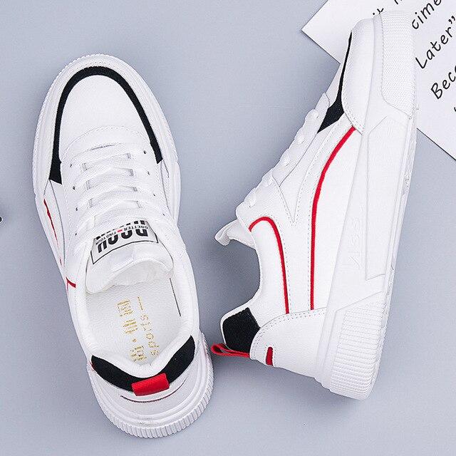 SWYIVY öğrenci ayakkabı kız beyaz Sneakers tıknaz platformu 2020 bahar yeni kadın rahat ayakkabılar Sneakers beyaz Sneaker kadın