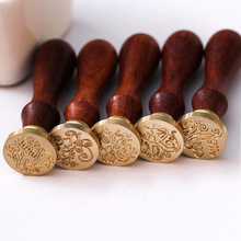 Retro Wax Seal Stamp Sealing Wax Seal Set 6 Styles Wood Stamp  Replace Copper-Head Stempel Custom Stamp Wax Stamp