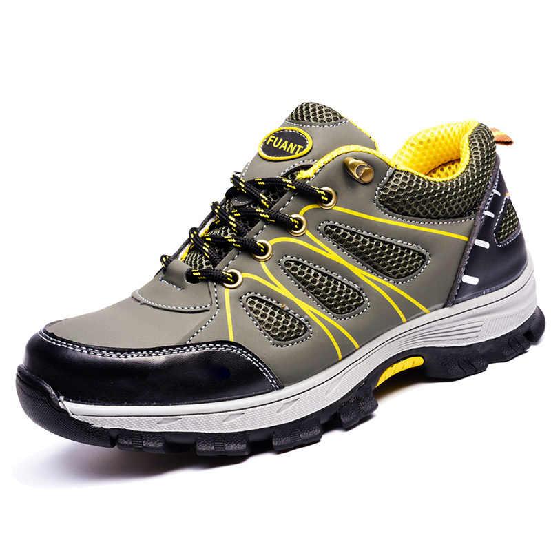 ผู้ชายรองเท้าเพื่อความปลอดภัยรองเท้าทำงานสำหรับผู้ชายและผู้หญิง Puncture PROOF รองเท้าทำงาน