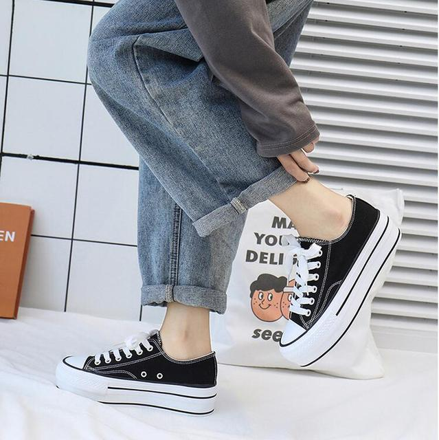 Canvas Shoes Female Platform Sneakers