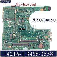 Kefu 14216-1 placa-mãe do portátil para dell inspiron 3458 3558 original mainboard 3205u/3805u