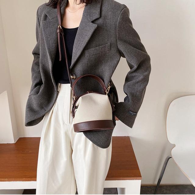 Scrub Leather Cross body Bags