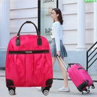 Frauen Reisen Gepäck handtasche mädchen trolley taschen Kabine Wasserdichte Oxford Roll Trolley koffer Dame auf Rädern räder Drag tasche