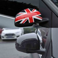 2pcs Door Rear View Mirror Covers housing Stickers trim frame part for Benz smart 451 453 fortwo forfour 2015 2016 2017 2018