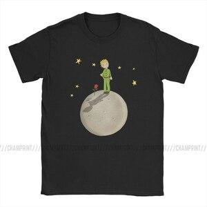 Футболка «Маленький принц» для мужчин, хлопок, потрясающие футболки, круглый вырез, съесть слона, мультфильм, новые футболки, короткий рукав...
