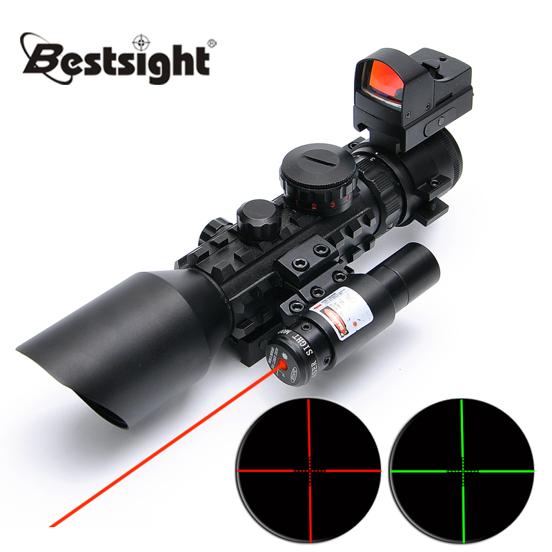 3-10X42E M9C Red Dot Sight Wide-field Riflescope Birdwatching Seismic And Night Vision Rifle Scope for Hunting