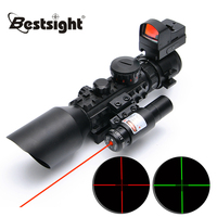 3 10X42E M9C Red Dot Sight Wide field Riflescope Birdwatching Seismic And Night Vision Rifle Scope for Hunting