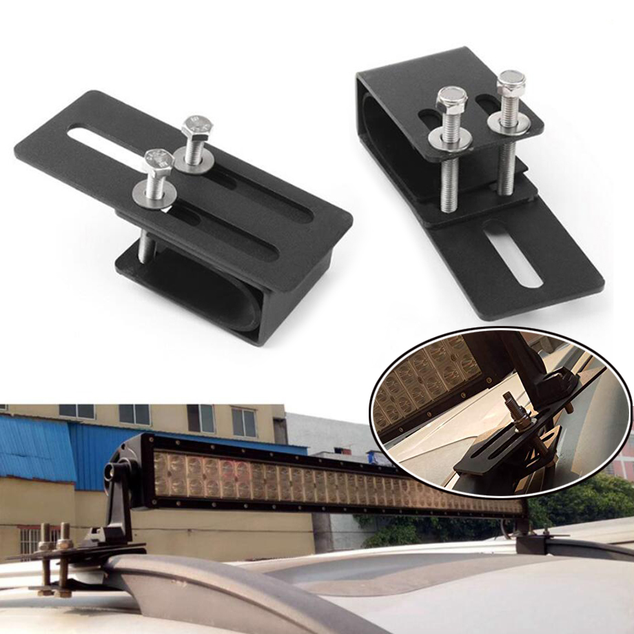 1PAIR Universal Car Luggage Rack Mounting Bracket SUV Roof Light Bar Stand Offroad LED Lamp Holder image