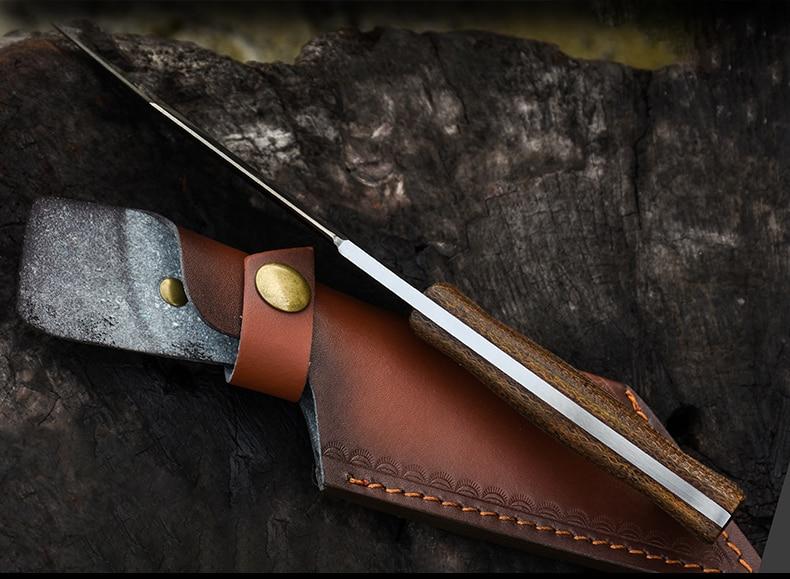Voltronoutdoor knife wild survival saber camping hunting survival straight knife bushcraft High hardness self defense