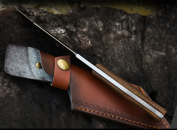 Voltronoutdoor knife wild survival saber camping hunting survival straight knife bushcraft High hardness self
