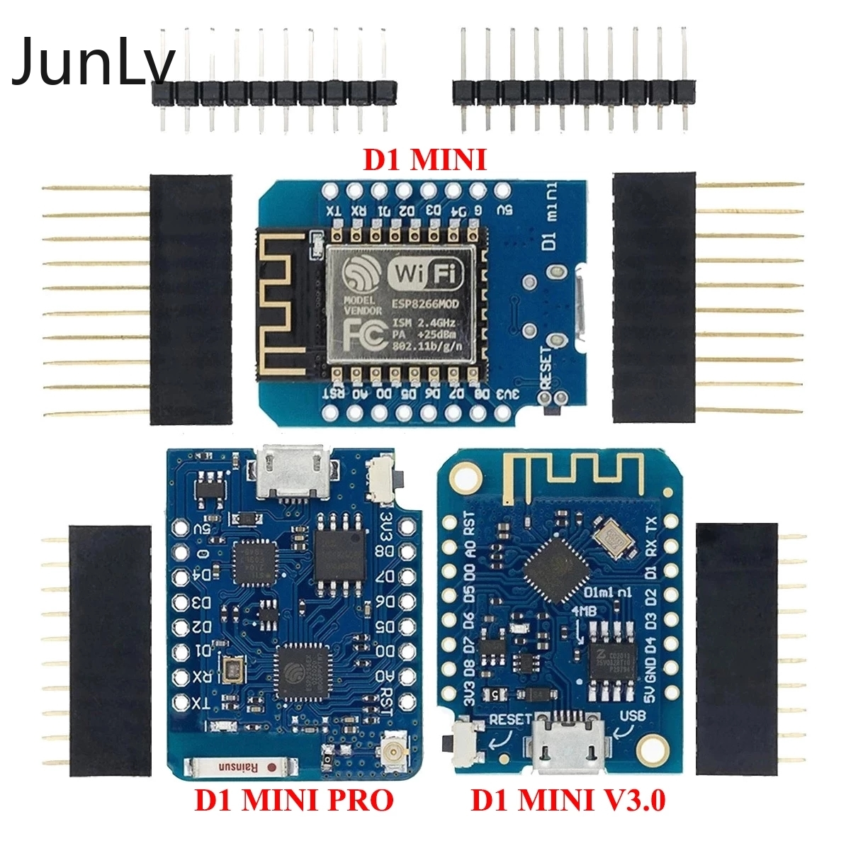 Mini Development Board,  ESP8266  CH340G V2 USB WeMos, wifi D1 Mini Node MCU Lua IOT 3.3V, with pins,raspberry pi 4  arduino
