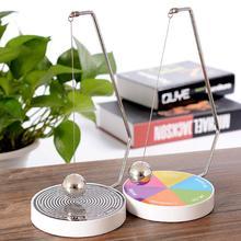 Juego de péndulo oscilante magnético Fate Fun Decision Maker Ball dinámico péndulo de juguete decoración de escritorio de oficina en casa juego de Metal juguetón