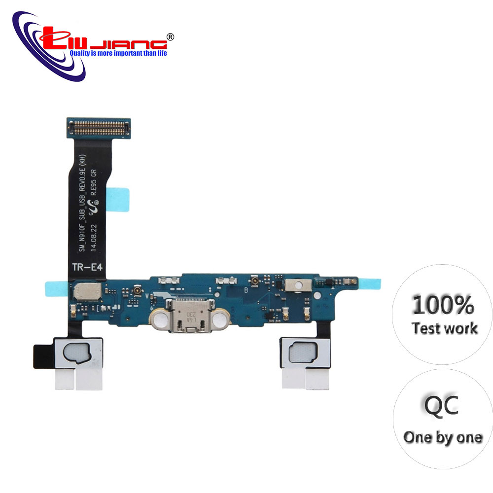 Original Charging Port Connector Flex Cable For Samsung Note 4 N910F N910C N910V USB Charger Flex Replacement Parts