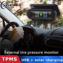 Vehemo Универсальный TPMS система контроля давления в шинах Инструмент Android 5 В ЖК цифровой беспроводной измеритель внешняя сигнализация TPMS система контроля давления в шинах для Toyota